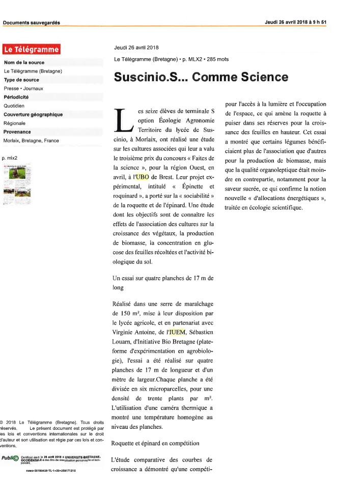 Suscinio : S...comme Science