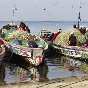 Chaloupes de pêheurs, Djiffer, Sénégal