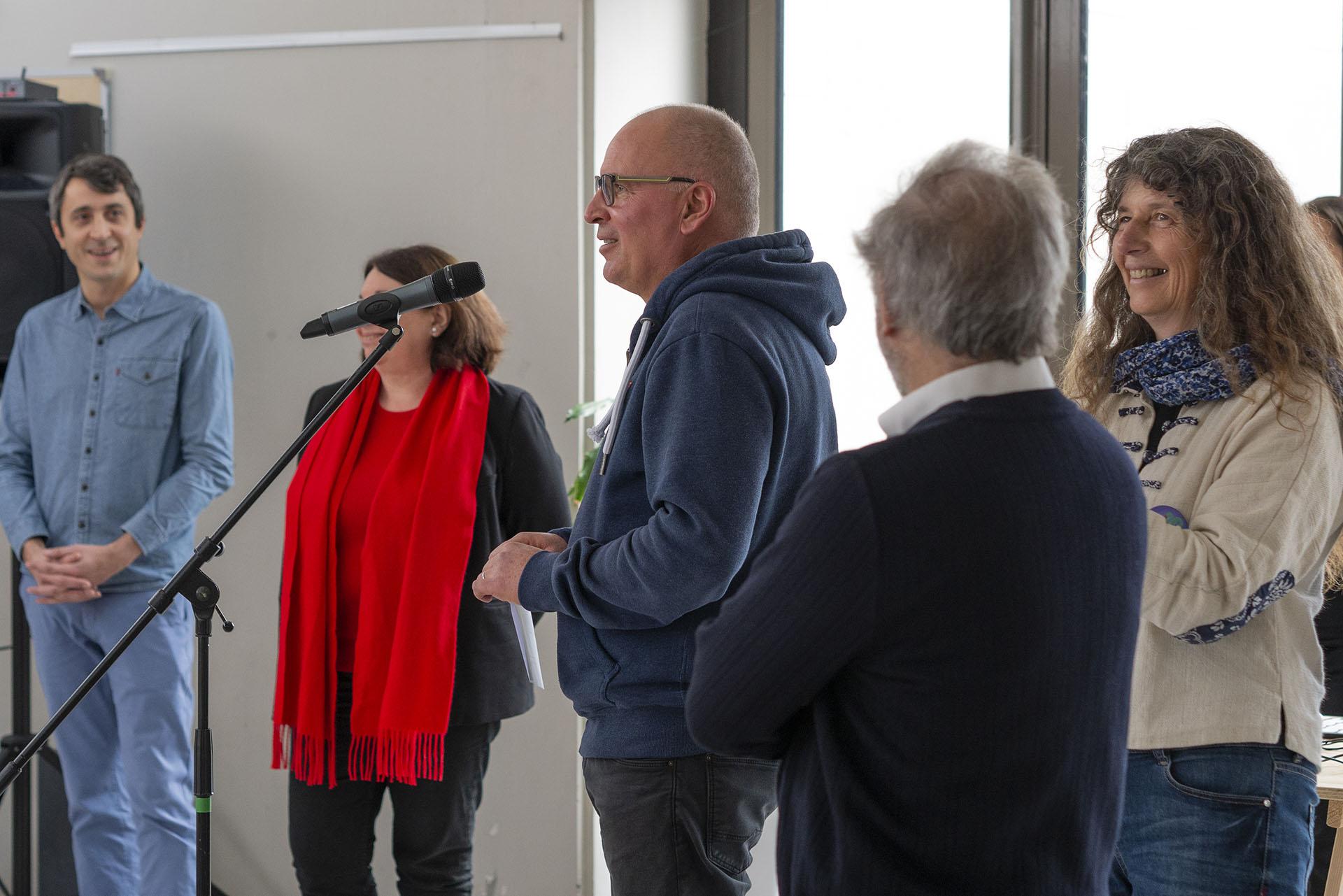 """Inauguration de """"la vague dans la matrice"""", festival Ressac, IUEM, 2019"""