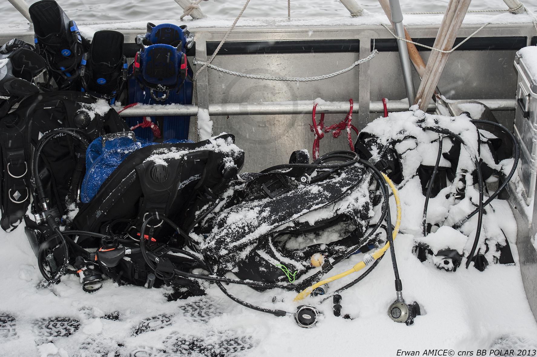 Equipment under snow