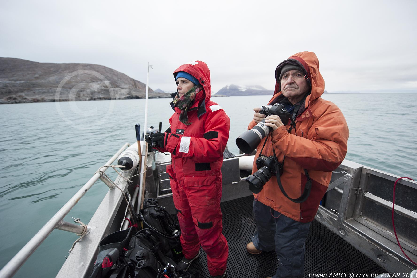 Mission à Kongsfjorden (Spitzberg) - Septembre 2013 - The artists Sandrine Paumelle & Jean Gaumy
