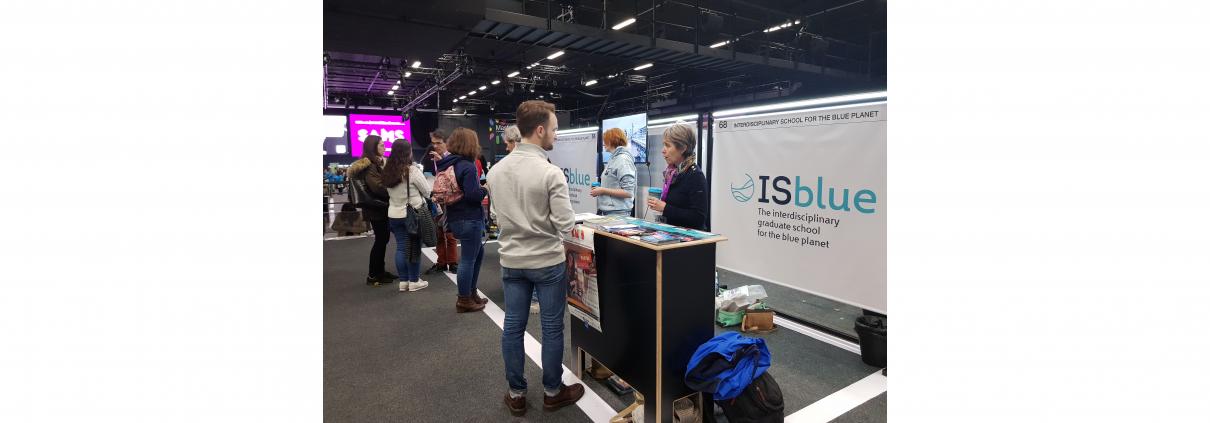 Stand d'ISblue au SAMS à Paris